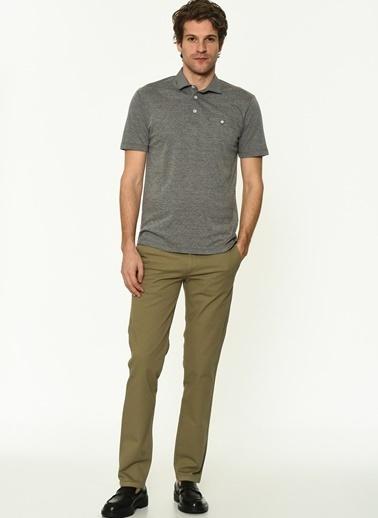 George Hogg Erkek 7004660 Slim Fit Tshirt Antrasit